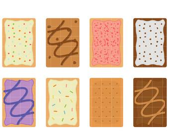 Pop Tart clipart Paper Toppers pop Cupcake Scrapbooking