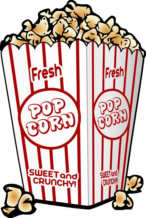 Popcorn clipart caramel popcorn Art Popcorn Images Free Clip