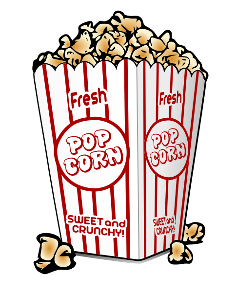 Cart clipart circus Theater Clipart Popcorn Movie movie