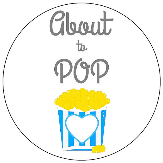 Popcorn clipart baby Stickers shower sizes baby popcorn