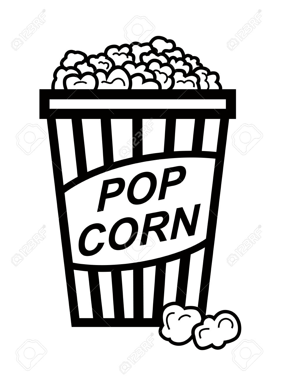 Popcorn clipart black and white Clipart Download Clipart and popcorn