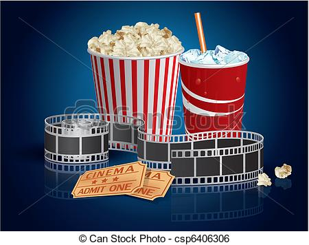 Popcorn clipart blue Csp6406306 Clip drink Popcorn and