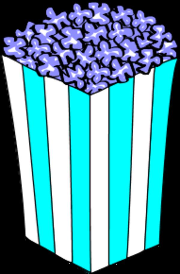 Popcorn clipart blue Clip clip Popcorn Clipart popcorn