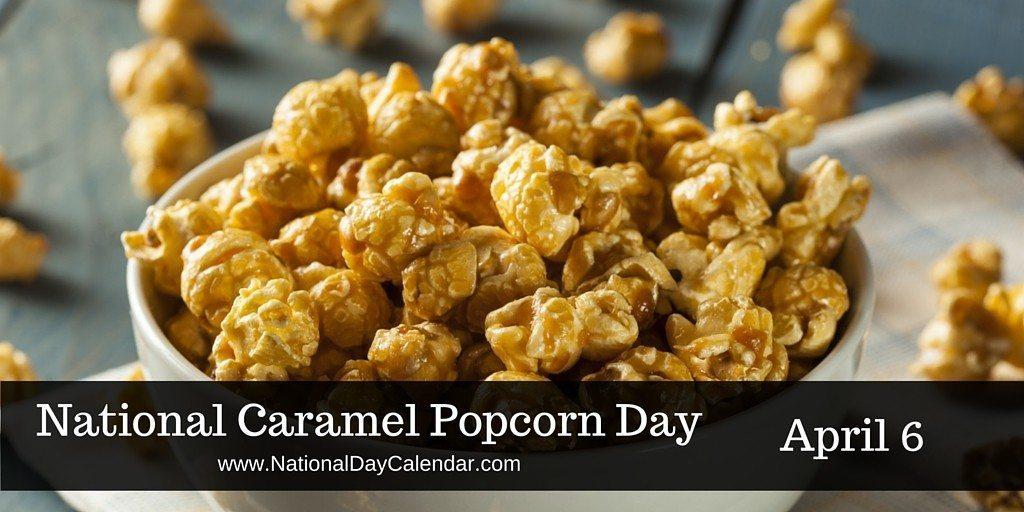 Popcorn clipart caramel popcorn CARAMEL  April NATIONAL Calendar