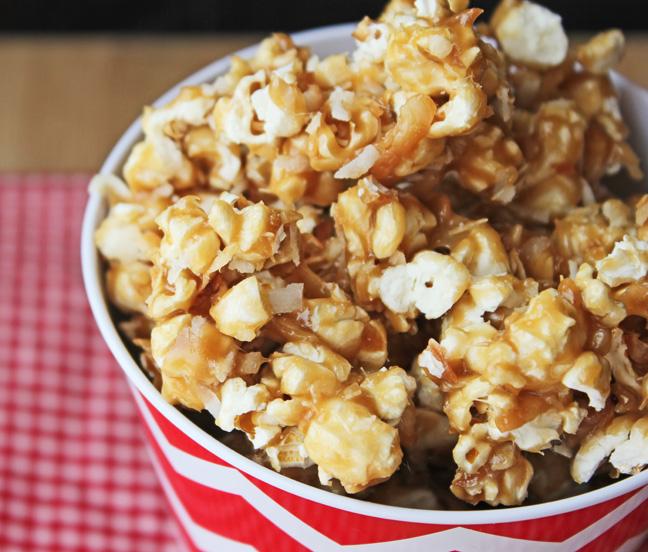 Popcorn clipart caramel popcorn Caramel Toasted Popcorn Coconut Popcorn