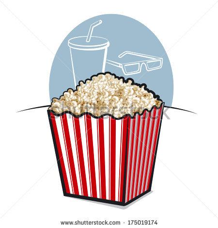 Popcorn clipart coke Stock Vector Popcorn Cup popcorn