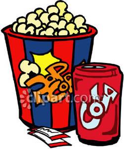 Popcorn clipart coke Clip art Soda soda Clipart