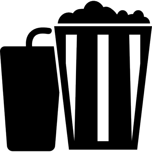 Popcorn clipart coke Glass Free and soda Icons