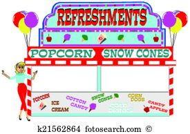Popcorn clipart concession stand Concession Stand Clip Food Stand