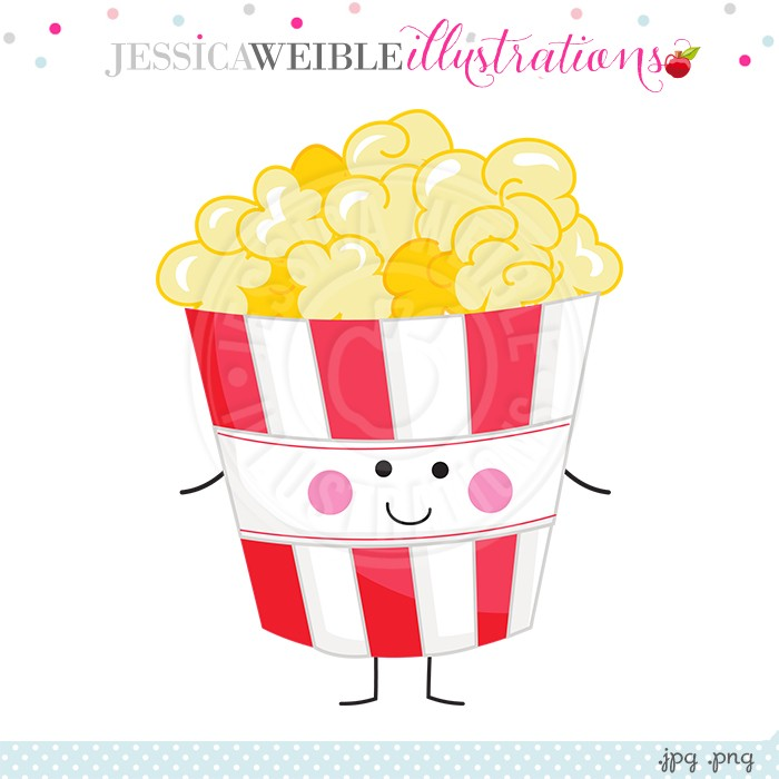 Popcorn clipart cute With Popcorn Character Character Illustrations