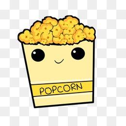 Popcorn clipart cute Cute PSD popcorn for Unicorn