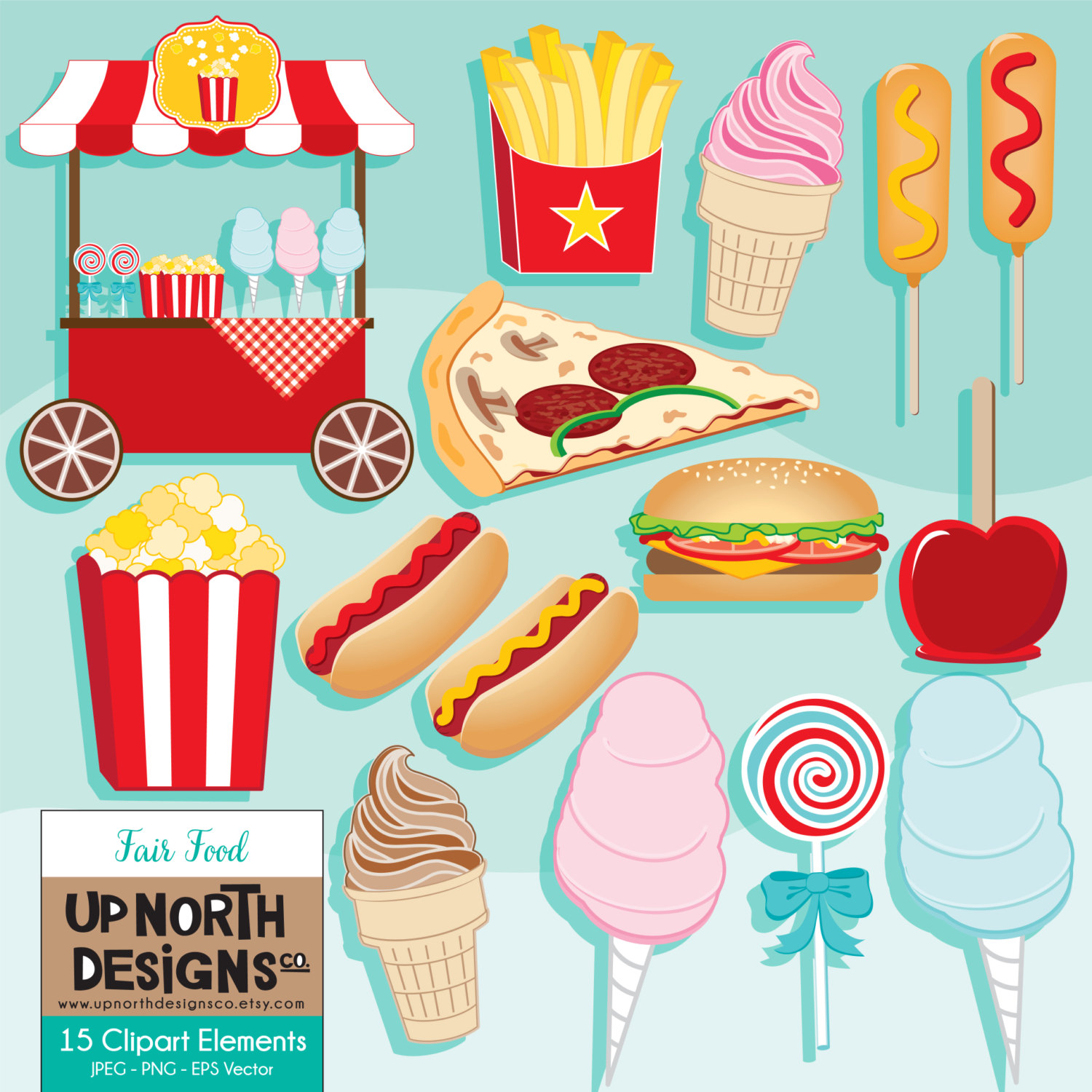 Popcorn clipart fair food Clipart Fair illustration popcorn Clipart