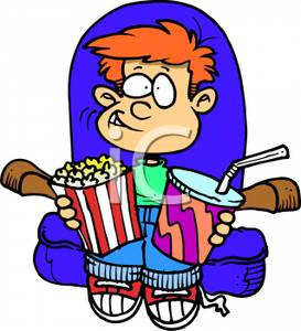 Popcorn clipart kid A Sitting and Theater Popcorn