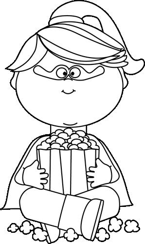 Popcorn clipart kid White Superhero Popcorn Images Clip