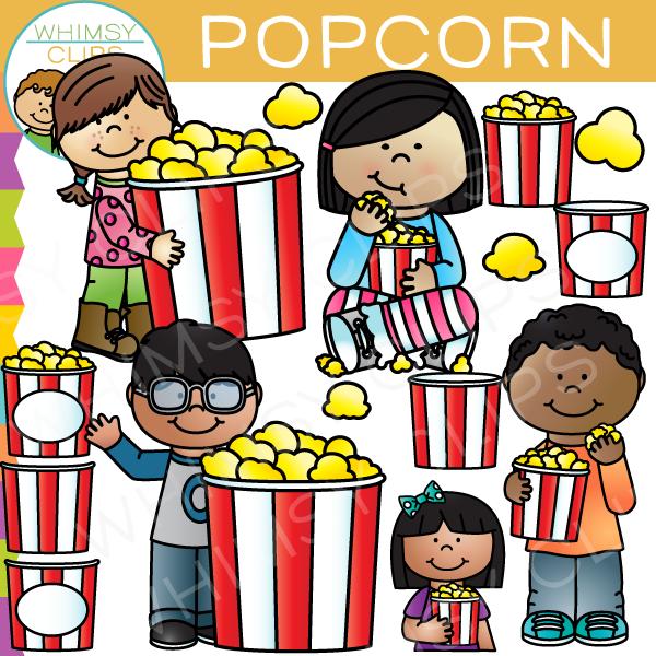 Popcorn clipart kid Clip Whimsy art Art Popcorn