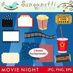 Popcorn clipart movie party Party back sit popcorn your