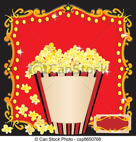 Popcorn clipart movie party Birthday Movie Popcorn of csp8650768