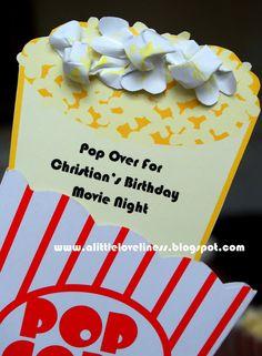 Popcorn clipart movie party Party Break Printable Free Invitation