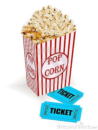 Popcorn clipart ticket Clipart Movie Movie Clipart Popcorn