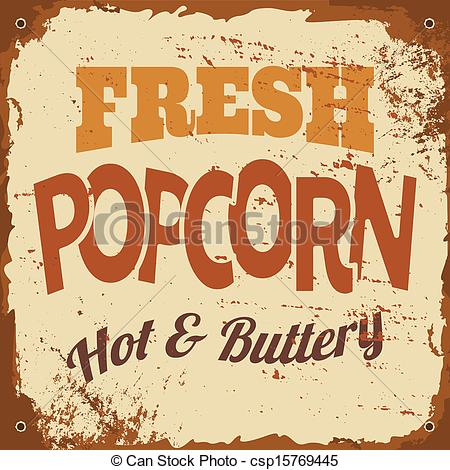 Popcorn clipart vintage Sign style csp15769445 Vector tin