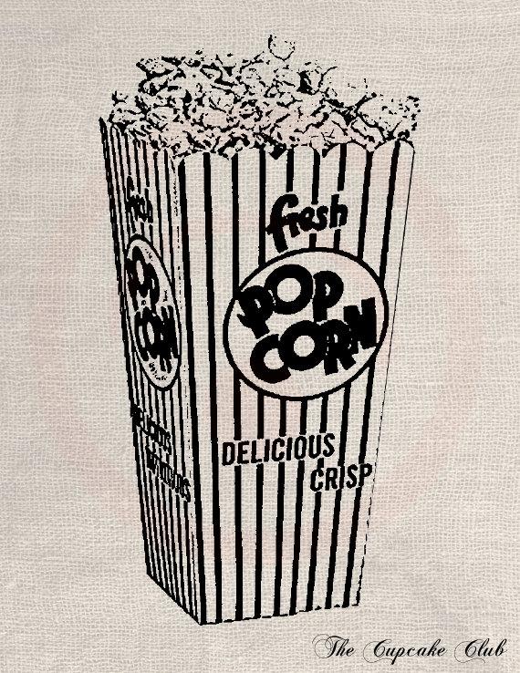 Popcorn clipart vintage Digital Chic DIY Art to