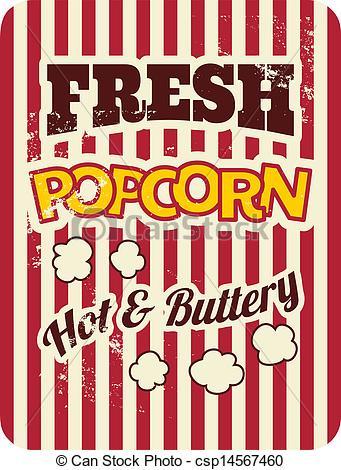 Popcorn clipart vintage Poster Vintage csp14567460 Art style