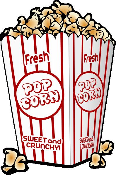 Popcorn clipart vintage Free Clip Movies Popcorn Art