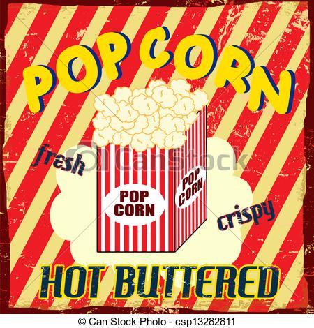 Popcorn clipart vintage Pop vintage poster Vector poster
