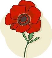 Red Flower clipart poppy flower #2