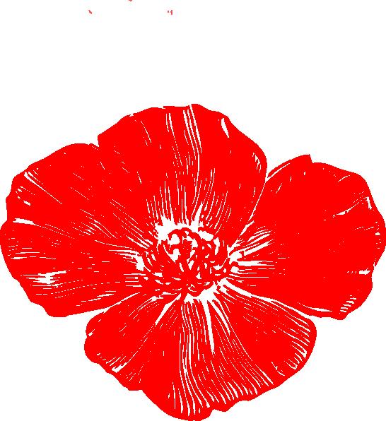 Red Flower clipart poppy flower #13