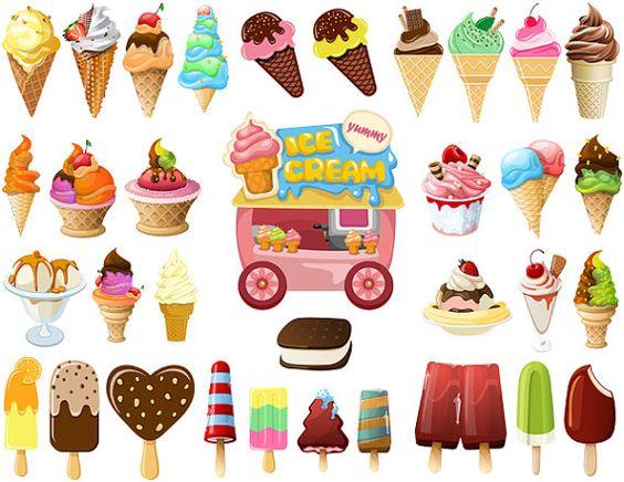 Cart clipart popsicle Digital Clip Ice Cream Popsicle