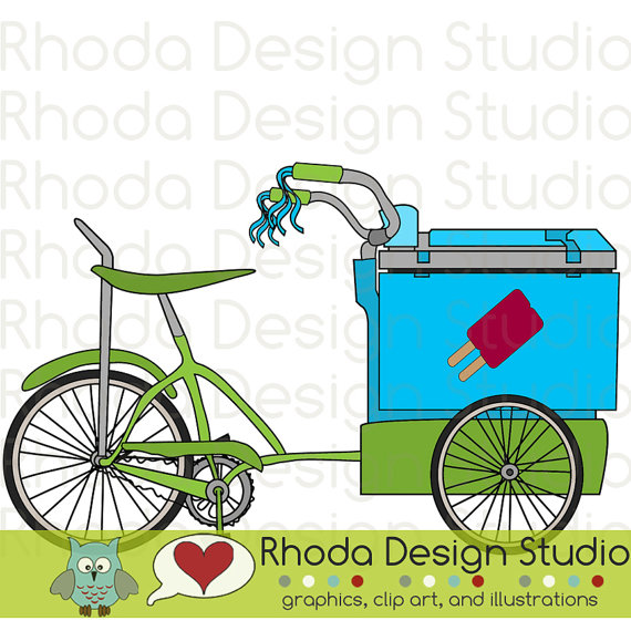 Cart clipart popsicle Cream Art Ice Bikes Trike