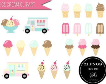 Cart clipart popsicle CREAM cream Popsicle set: art