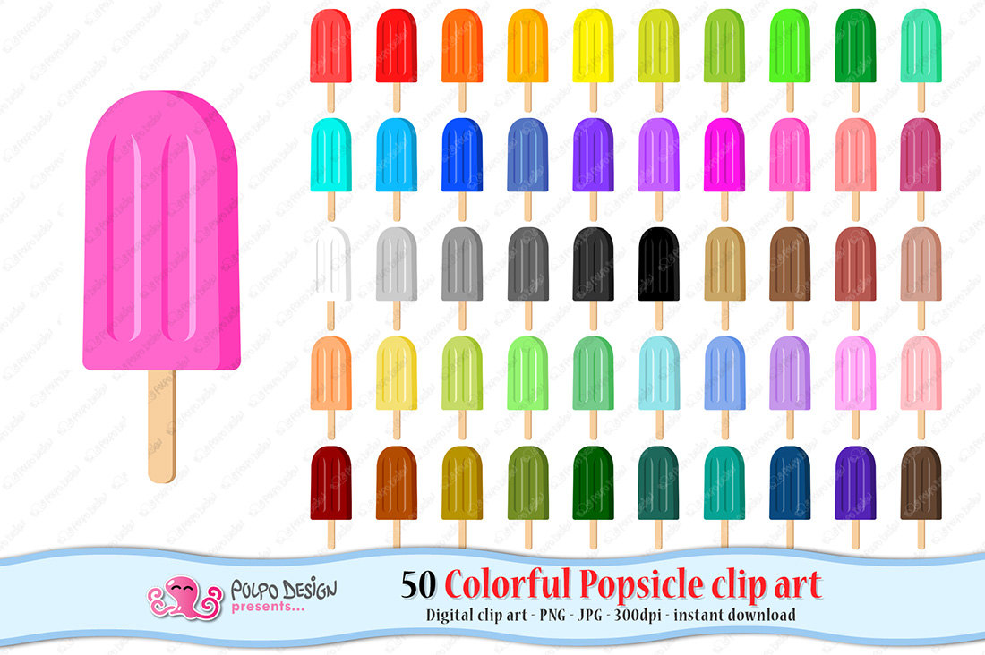 Popsicle clipart freeze pops Clip Ice Freeze Popsicle 50