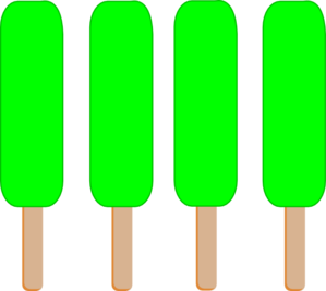 Popsicle clipart green Blue single popsicle 2 green