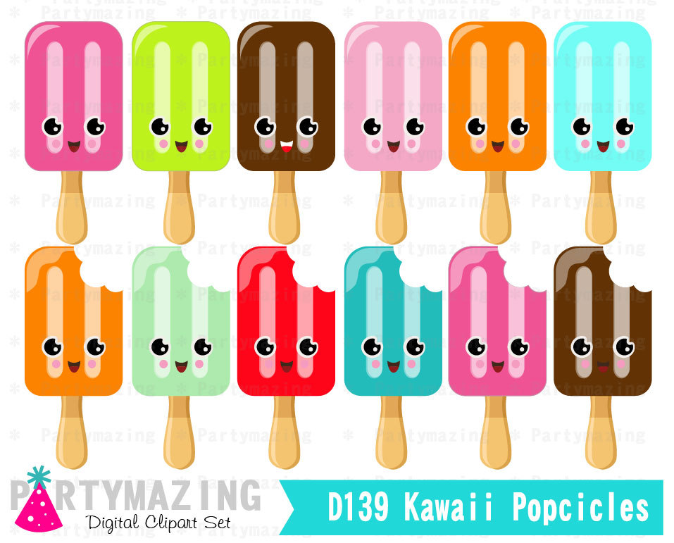 Popsicle clipart kawaii Ice clip set on D142