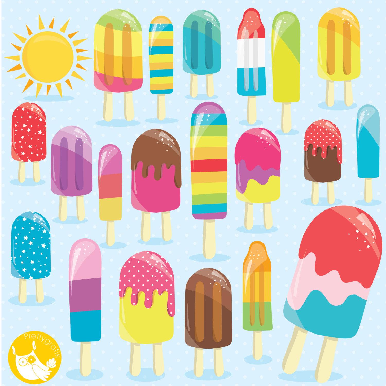 Popsicle clipart kawaii Kawaii digital  use file