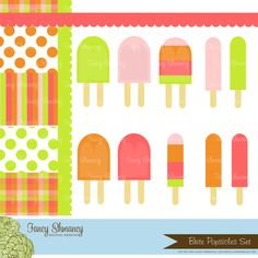 Popsicle clipart kawaii Etsy Clipart global and on