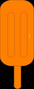 Popsicle clipart orange Clker Art Popsicle Popsicle Orange