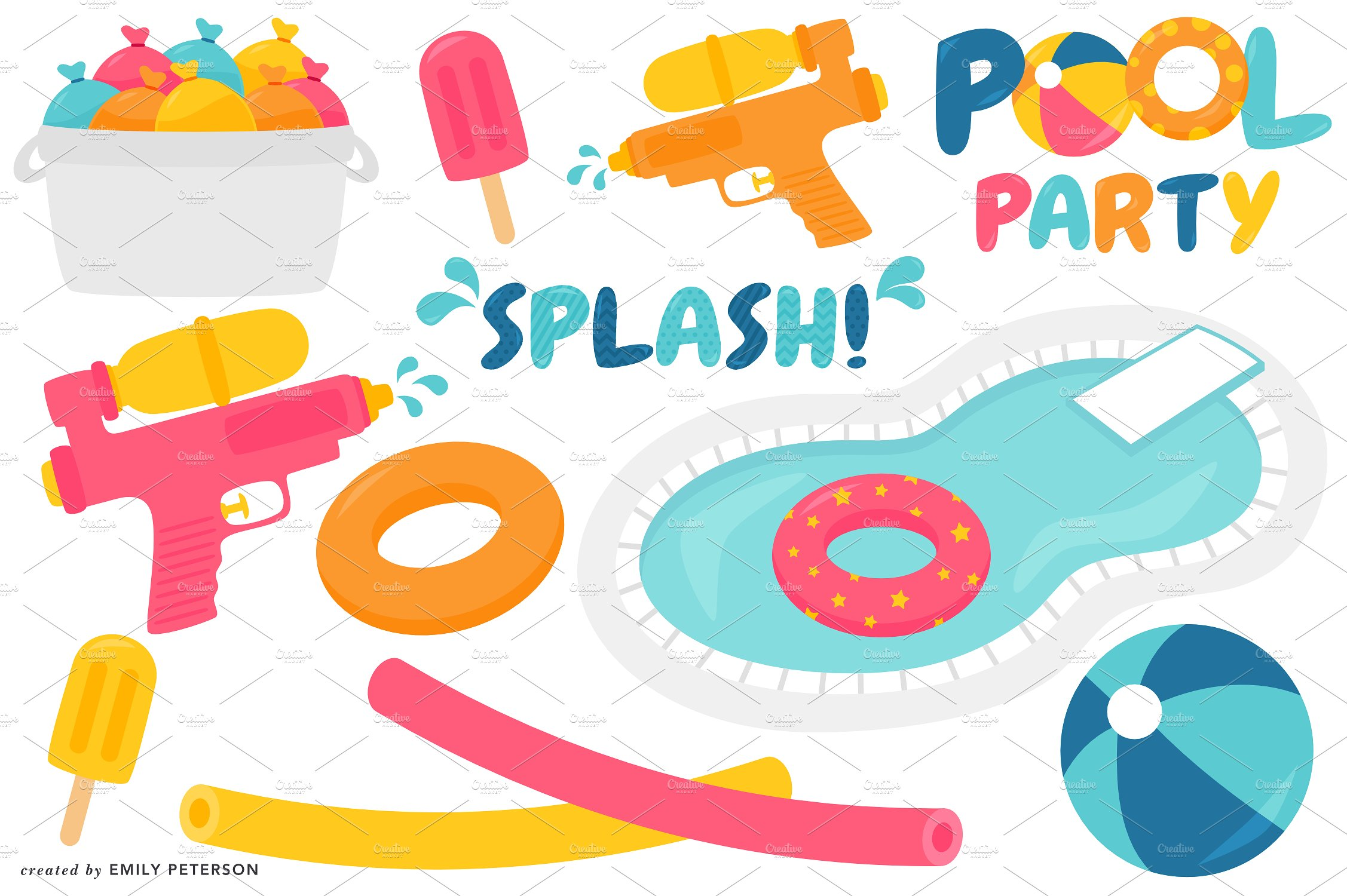 Party clipart beach ball Templates clipart Pool Clipart Photos