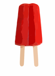 Popsicle clipart red Clip Double Art Red clip