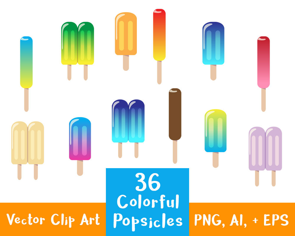 Popsicle clipart summer food 36 Popsicles Clipart file Art
