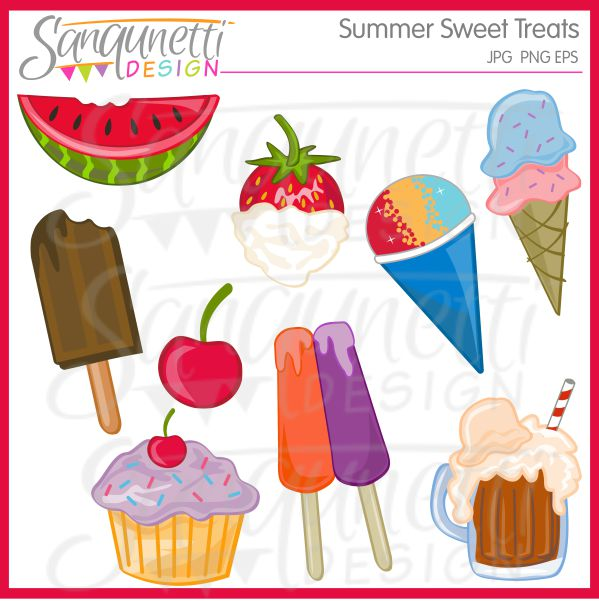Popsicle clipart summer food Cherry fudgesicle Summer includes cupcake