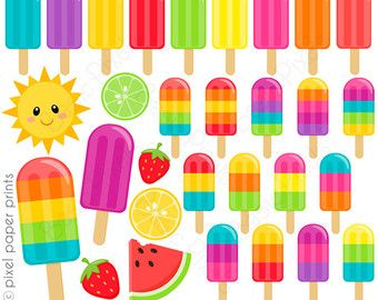 Popsicle clipart summer time Find Pin Summer Popsicles꧁ Clipart