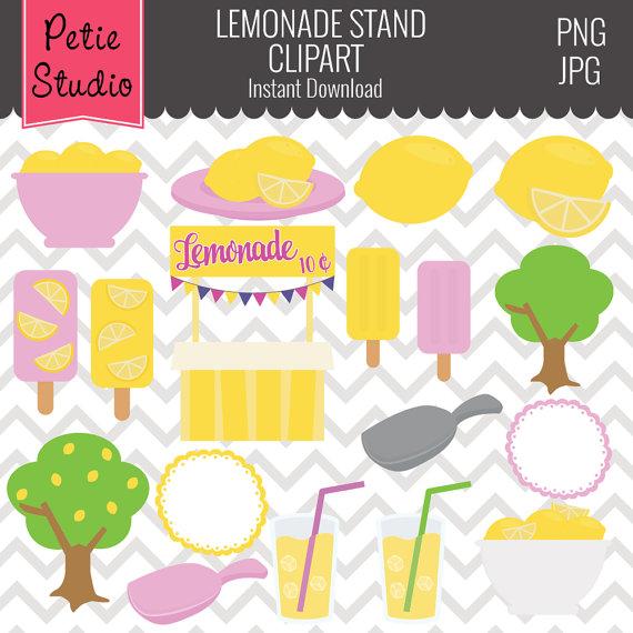 Popsicle clipart summer time // Lemons Clipart Lemonade Clipart