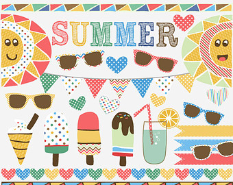 Popsicle clipart summer time Papers Watercolor and SALE Clip