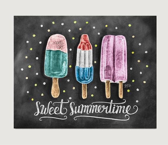 Popsicle clipart summer time Art  Chalkboard Popsicle Summer