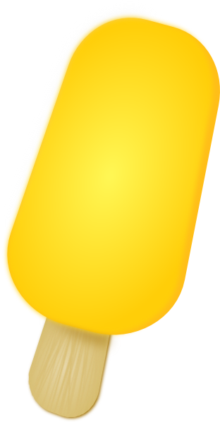 Popsicle clipart yellow Clip Free Yellow Domain Public