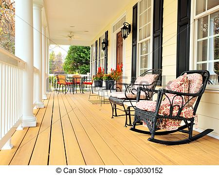 Porch clipart Csp3030152 Traditional Home Stock Low
