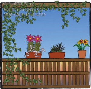 Porch clipart On of of a Plants